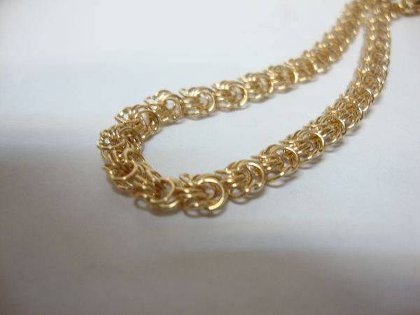 Золотой браслет плетения роза